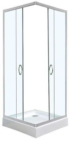 6. Квадратна душ кабина без корито TT4080C