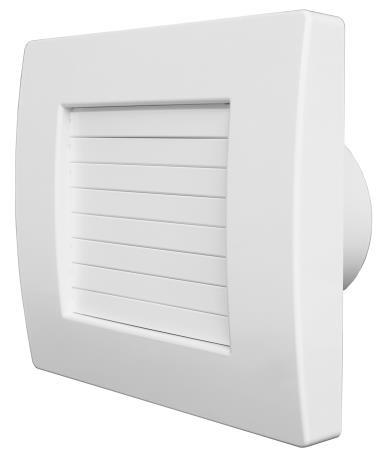 Вентилатор Aerauliqa, модел QA 100 - с плавно отваряне на жалузите