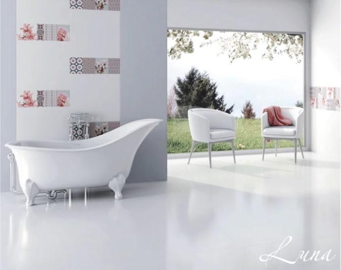 Плочки за баня Luna Blanco