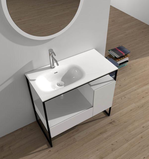 Долен шкаф за баня с каменна мивка ICC 4613 + ICC 4885