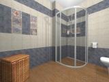 Проект на баня с плочки Comillas и Cementine