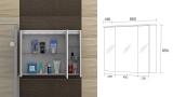 Горен шкаф огледало за баня Мичиган - схема