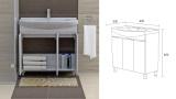 Долен шкаф  за баня Мичиган - схема