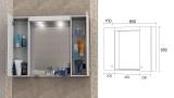 Горен шкаф с огледало за баня Вегас - скица