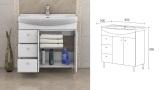 Долен шкаф  за баня Вегас - скица