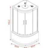Хидромасажна душ кабина TANY ICSH 8179W NEW - Размери
