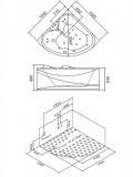 Хидромасажна вана  Модел  A208A