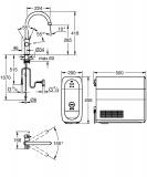 Кухненски смесител за филтрирана вода Grohe Blue Home 31455001 - Размери