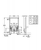 Структура за биде Rapid SL 38543000 - Grohe - Макензи
