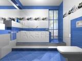 Безплатен проект на баня с плочки Waves Azul