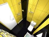 Проект на баня с плочки Colour Yellow и Black - Tubadzin