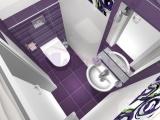 Проект на баня с плочки Colour Violet - Tubadzin