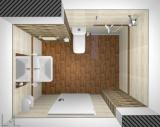 Проект на баня с облицовка и дърво