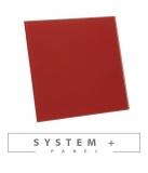 Червено право матирано стъкло 100мм