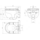 Размери на конзолна тоалетна Hammock S
