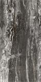 Полиран гранитогрес Gazelle - 60x120 см. Имитация на черен мрамор с бели нишки