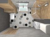Проект на баня с плочки Hexa 10