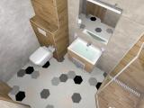 Проект на баня с плочки Hexa 3