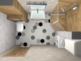 Проект на баня с плочки Hexa 4