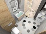 Проект на баня с плочки Hexa 6