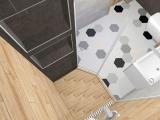 Проект на баня с плочки Hexa 7