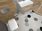 Проект на баня с плочки Hexa 8