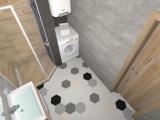 Проект на баня с плочки Hexa 9
