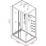 Хидромасажна душ кабина Вилия ICSH 8536  - размери