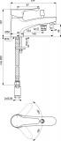 Стоящ смесител за вана/душ Ideal Standard Alpha BC655AA - схема