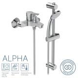 Смесител за вана/душ IS Alpha BC656AA с аксесоари