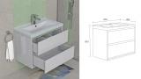 Долен шкаф за баня Канзас - схема