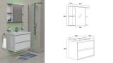 Скица - Комплект мебел за баня