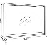 Огледало Фрида с LED осветление - Размери