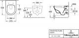 Конзолна тоалетна Villeroy and Boch New Architectura 53см - 4694HR01 Размери