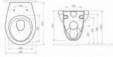 Схема на окачена тоалетна Idol