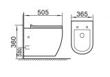 Схема- Окачена тоалетна Victoria S- free ring