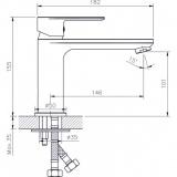 Смесител за мивка Елмира - ICF 1132505 - размери