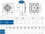 Вентилатор Retis - Awenta / размери