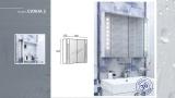 Горен шкаф за баня Сиана 2