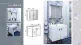Комплект мебел за баня Сиана 2