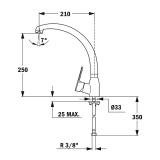 Смесител за кухня MF-2 PROJEKT - TEKA схема