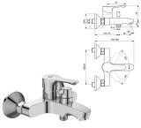 Смесител за вана душ Alpha BC654AA