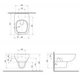 Висяща тоалетна Style - скица