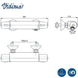 Термостатен смесител за душ V-Style- скица