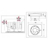 Вентилатор за баня  Fresh Intellivent Ice-схема