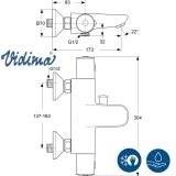 Термостатен смесител за вана/душ V-Style - скица
