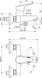 Смесител за вана/душ SevaNext Vidima B1925AA- схема