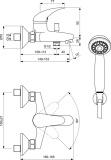 Смесител за вана/душ Orion Vidima B4227AA- схема