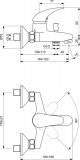 Смесител за вана/душ Orion Vidima B5193AA - схема