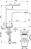 Смесител за мивка SevaTop BC398AA Vidima с метален Click изпразнител